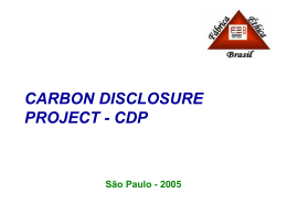 Carbon Disclosure Project - CDP