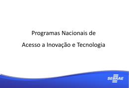 Apresentação 8ª Reunião do CT Tecnologia e Inovação