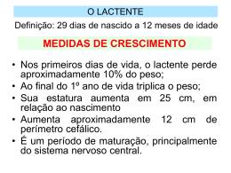 O LACTENTE