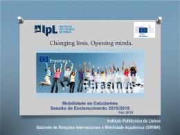 Apresentação da Sessão ERASMUS+