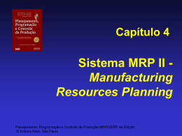 Sistema MRP II - Manufacturing Resources Planning