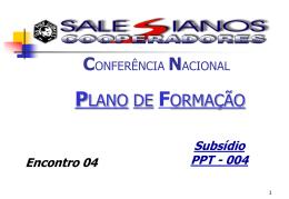 Encontro 04 - Plano de Formação