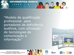 """""""Modelo de qualificação profissional para portadores de"""