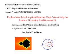 xxvii cnmac - mtm-UFSC - Universidade Federal de Santa Catarina