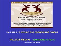 tribunal de contas e os municípios parceria para uma gestão