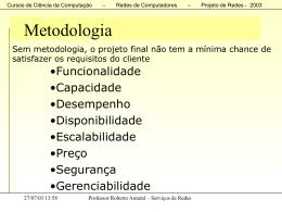 Projeto de Rede - Faculdade Gama e Souza