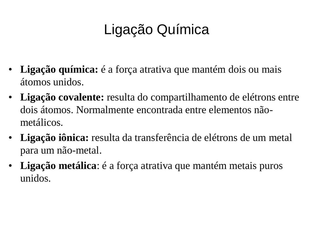 Ligacao Quimica
