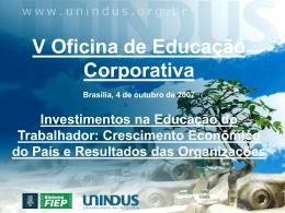Crescimento Econômico do País e Resultados das Organizações