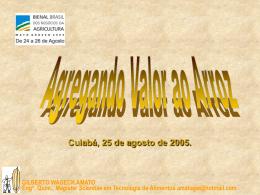 GILBERTO WAGECK AMATO Eng o . Quím., Magister Scientiae em