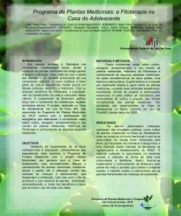 Programa de Plantas Medicinais: a Fitoterapia na Casa do