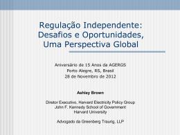 """""""Regulação Independente: Desafios e Oportunidades, Uma"""