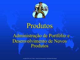 Produtos • Administração de Portfólio e