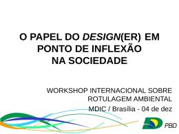 design - Ministério do Desenvolvimento, Indústria e Comércio Exterior