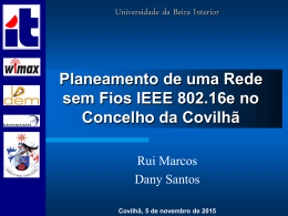 Planeamento de uma Rede sem Fios IEEE 802.16e no Concelho da