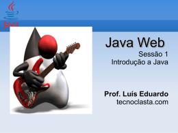 Sessão 1. Introdução a Java