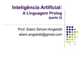 Inteligência Artificial: Linguagem Prolog