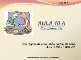Complemento - Professora Mestra Clarissa Bottega