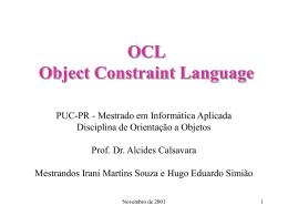O que a OCL é - Programa de Pós