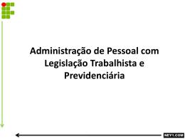 Administração de Pessoal com Legislação Trabalhista e