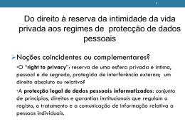 Dados pessoais - Faculdade de Direito da UNL
