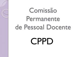 Comissão Permanente de Pessoal Docente - CPPD - prograd
