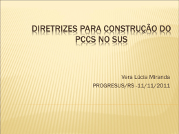 diretrizes para construção do pccs no sus