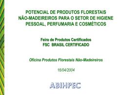 potencial de produtos florestais não-madeireiros