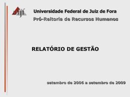 Coordenação - Universidade Federal de Juiz de Fora