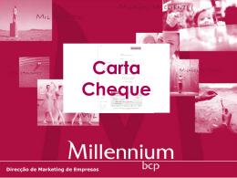 Carta Cheque - Millennium bcp