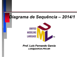 UML - Diagrama de Sequência - Prof. Dr. Luis Fernando Garcia