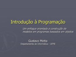 2. Modelos Orientados a Objetos - Departamento de Informática