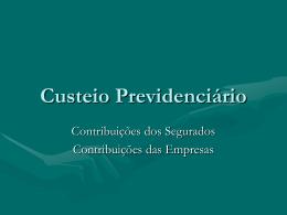 Custeio Previdenciário