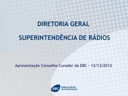 Apresentação do superintendente de Rádio da EBC, Orlando Guilhon