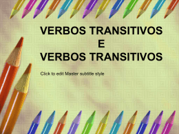 Verbos transitivos e intransitivos-AT