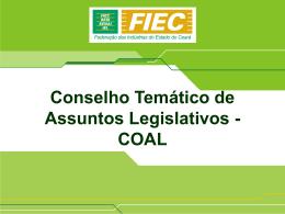 Sobre o COAL - Sistema FIEC