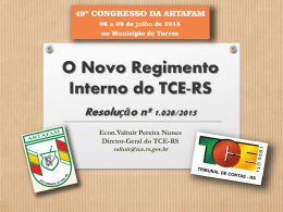 O NOVO REGIMENTO INTERNO DO TCE-RS