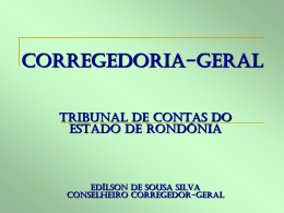 Corregedoria-Geral - TCE-RO