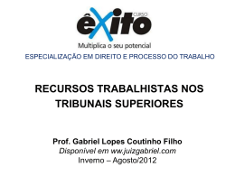 TRANSCENDÊNCIA - Gabriel Lopes Coutinho Filho