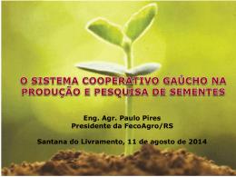 Eng. Agr. Paulo Pires Presidente da FecoAgro/RS