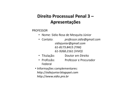 DExecCrim - Professor Sidio Rosa de Mesquita Junior