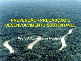 Paulo Afonso Leme Machado: PREVENÇÃO, PRECAUÇÃO E