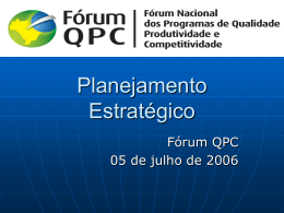 Planejamento Estratégico - Movimento Brasil Competitivo