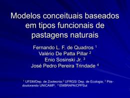 Modelos conceituais baseados em tipos funcionais de pastagens