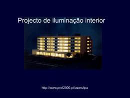 Projecto de iluminação interior