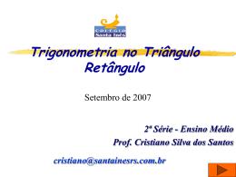 Aula sobre razões trigonométricas no triângulo retângulo