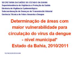 Determinação de áreas com maior vulnerabilidade para circulação