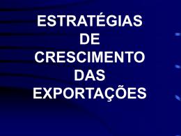 """Palestra """"Estratégias de crescimento das exportações""""."""