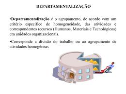 Departamentalizao - CRA-MA