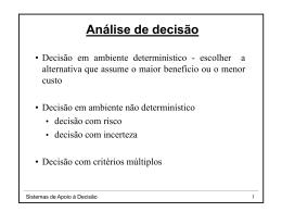 Modelos de decisão 3