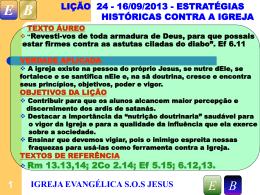 Slide 1 - Igreja Evangélica SOS Jesus